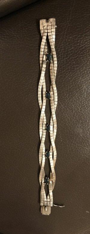 Vintage Armband 925 Silber mit Saphiren