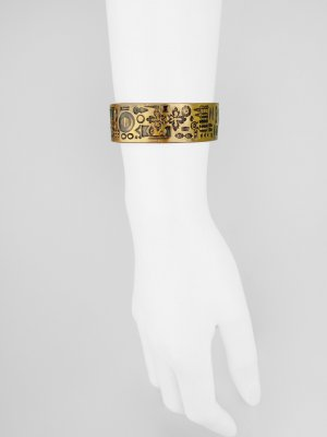Armlet bronze-colored-black metal