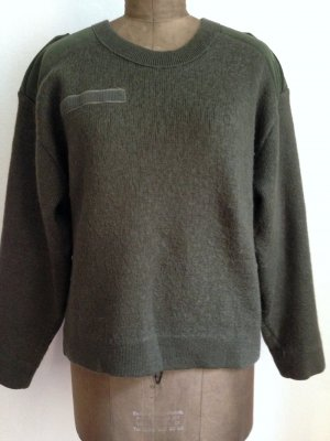 Vintage Army Pullover mit Wolle, passt Gr. 40-44