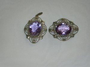 Colgante gris claro-púrpura