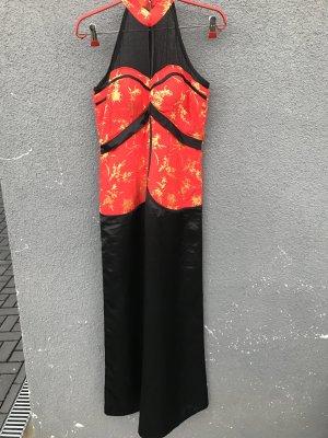 Maxi abito nero-rosso