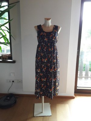 Vintage Babydoll Dress multicolored cotton