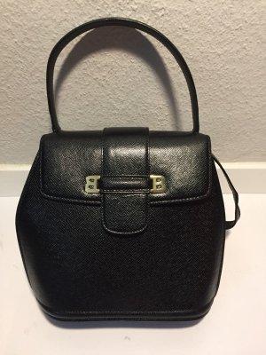 Vintage BALLY Handtasche schwarzes Leder