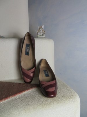 Bally Loafers bordeaux-dusky pink leather