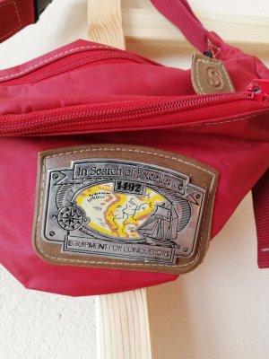 Vintage Marsupio rosso mattone
