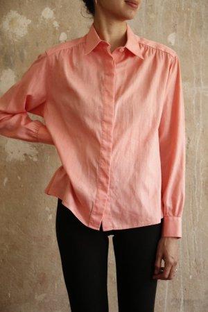 Vintage Baumwoll Bluse Rose Damast Muster