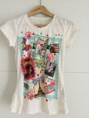 Vintage bedrucktes T-Shirt aus London
