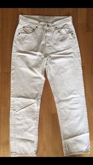 Diesel Jeans a vita alta bianco sporco-bianco