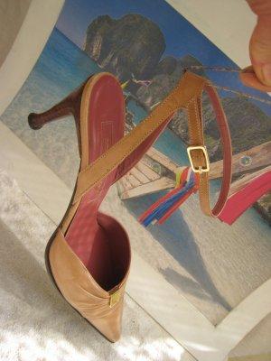 Vintage Bezaubernde Sergio Rossi Luxus Sling´s Elegant & Edel 39,5 sehr hoher NP Top