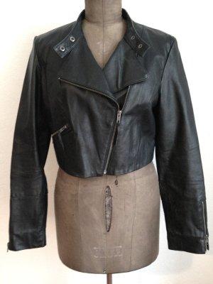 Vintage Bikerjacke aus echtem Leder, Gr. 40/42