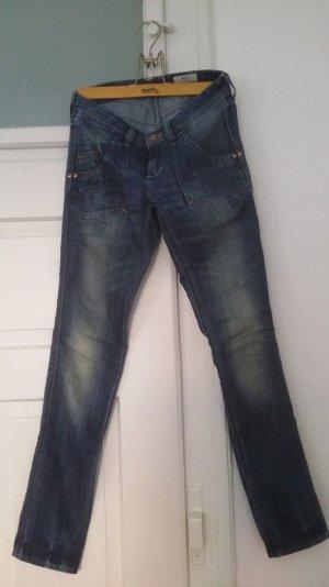 Vintage blaue Skinny Jeans