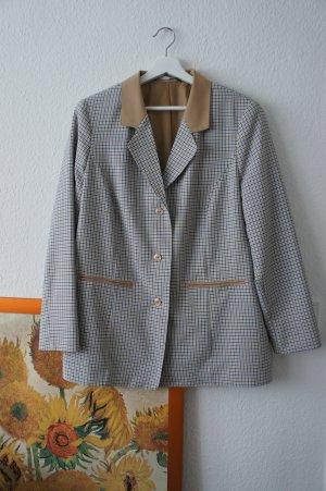 vintage blazer 40 42 M blau creme kariert business cool