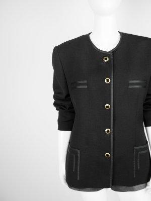 Marcona Blazer de lana negro-color oro tejido mezclado