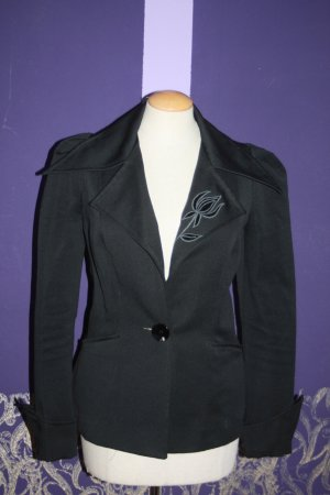 "Vintage Blazer ""Blacky Dress"" schwarz Stickerei 70er Marlene Stil 34"