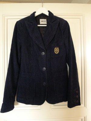 Vintage Blazer, Cordblazer College-Stil Dunkelblau in S / GAS
