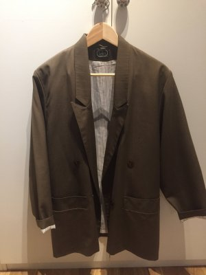 Vintage Blazer en laine gris vert