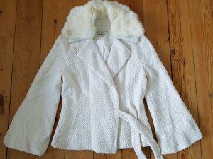Vintage Blazer Echtfell Jacke S M 36 38 Mantel Jäckchen Strickjacke Cardigan
