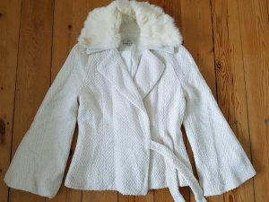 Vintage Blazer Echtfell Jacke S M 36 38 Pelz Mantel Wolle Strickjacke Cardigan