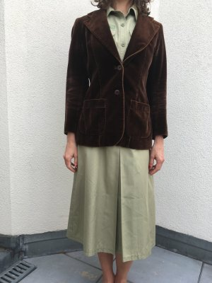 Vintage Blazer in dunkelbraunem Samt