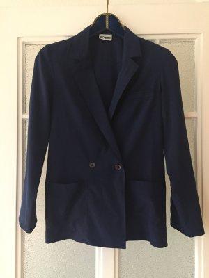 Vintage Blazer, loose-fit, boyfriend-Blazer, schwarz, 38/M, dünner Stoff