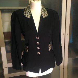 Vintage Blazer mit Leoprint Gr. 36