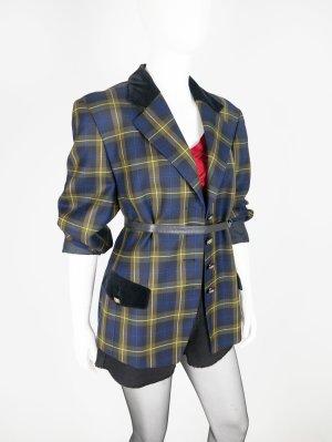 Vintage Blazer mit Samtkragen und verzierten Knöpfen