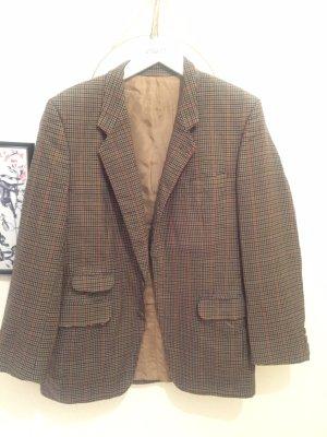 Tweed blazer grijs-bruin-donker oranje