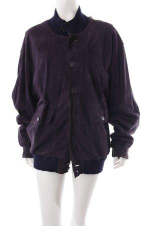 Vintage jacket dark blue leather look