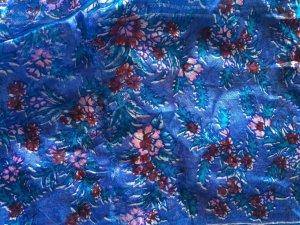 Vintage Nastro per capelli rosa-blu acciaio