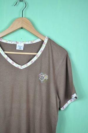 Vintage Blümchen Shirt mit Stickerei