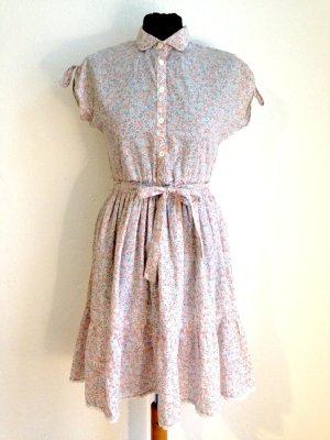 Vintage Blümchenkleid aus Baumwolle, Gr. 34/36