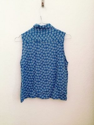 Vintage Blumembluse blau