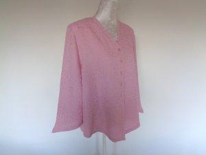 Blusa ancha rosa claro fibra textil