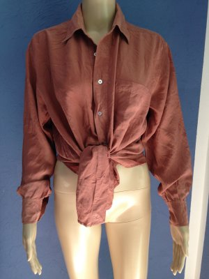 Vintage Bluse Altrosa Seide