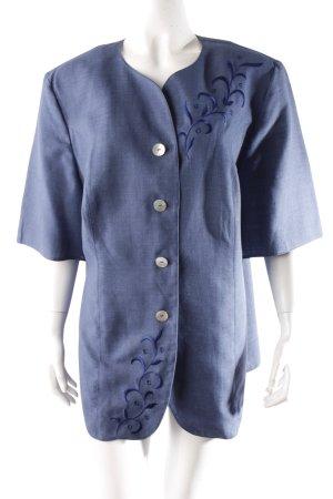 Vintage Bluse blau Perlmuttoptik