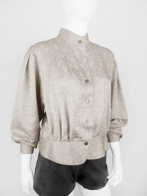 Vintage Bluse in Beige mit Schößchen