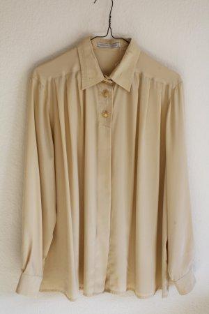 Vintage Bluse in Creme mit Goldknöpfen von Mario Rosella
