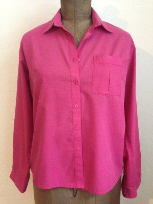 Vintage Bluse in Pink, Gr. 42