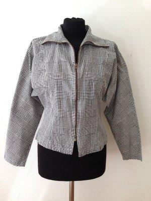 Vintage Bluse/ Jacke mit Hahnentritt Muster und Fledermaus Ärmeln, Gr. M (38/40)