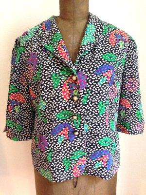 Vintage Bluse/ Jäckchen aus reiner Seide, Gr. 42