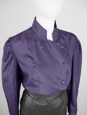 Vintage Bluse mit asymmetrischem Knopfverschluss