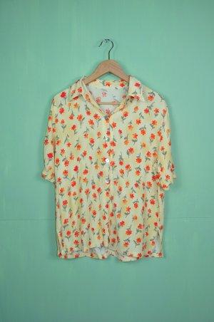 Vintage Bluse mit Blumen Druck / Print