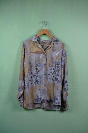 Vintage Bluse mit Blumen in gedeckten Tönen