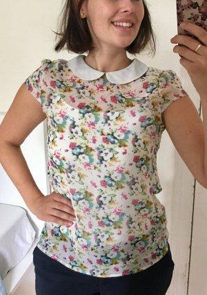 Vintage Bluse mit Blumenmuster