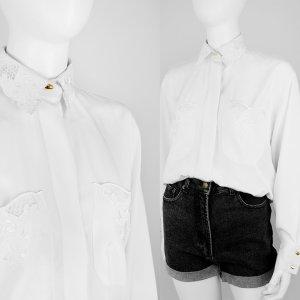 Vintage Bluse mit dekorativen Spitzen-Details