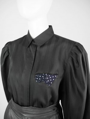 Vintage Bluse mit Einstecktuch