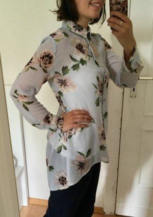 Vintage-Bluse mit großen Blumen