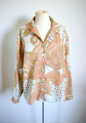 Vintage Bluse mit Paisley-Muster, oversized Bluse boho 70er