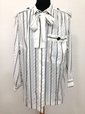 Vintage Bluse mit Schleife, Gr. 42