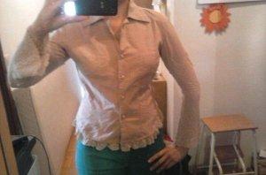 Vintage Bluse mit Spitze G. 38